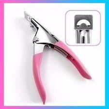 Corta tips alicate metalico pedicura- manicura uñas postizas acrilico-gel uv.