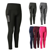 Women's High Waist Running Workout Leggings for Yoga with Pockets Tummy Control