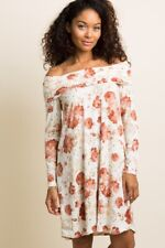 New Pinkblush XL Maternity Floral Foldover Off The Shoulder Long Sleeve Dress