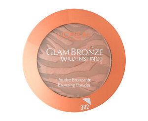 LOREAL GLAM BRONZE WILD INSTINCT PRESS POWDER NO 302 WALK ON THE WILD NEW SEALED