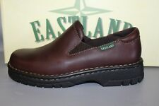 NEW Women's Eastland Newport Brown Leather Casual Slip-on Shoe
