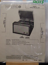 SAMS PHOTOFACT FOLDER MANUAL & SCHEMATIC TURNTABLE ADMIRAL MODEL 3G18 CH. 3G1