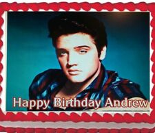Elvis Presley Edible Cake Icing Topper Image Decoration Party 1/4 Frosting sheet