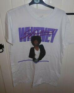 Whitney Houston Large/Medium So Emotional T Shirt CHEST TIGHT 42 Signature Shirt