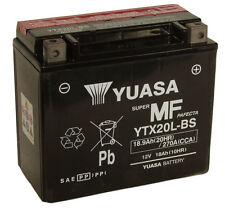 Yuasa YTX20L-BS, 12v 18Ah 270 CCA Motorbike Motorcycle Battery Inc Filling Kit