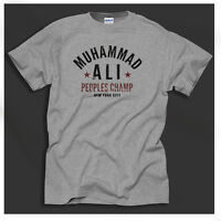 Muhammad Ali USA Boxing Cassius Clay People's Champ Grey T-Shirt Big Sizing