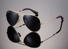 POLARIZED RAY-BAN Folding Aviator 22KT GOLD P3 Plus Sunglasses RB 3479KQ 001 N5