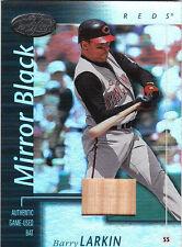 2002 02 Leaf Certified Barry Larkin Bat Patch Mirror Black 1/1 Read