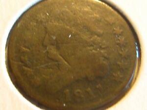 1811 Turban Head  Half Cent