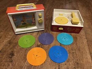 70's Vintage Fisher Price Record Player & TV