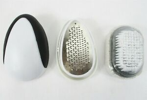 Dr. Deo's Egg Foot File + Japanese Pedicure Pumice Stone Callus Remover w/Brush