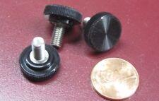 "Plastic Black Stainless Thumb Screw, 5/8"" Head Dia. x 10-32 x 3/8"" Length, 25 Pc"