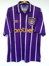 MANCHESTER CITY 1992 1994 UMBRO AWAY FOOTBALL SOCCER SHIRT JERSEY CAMISETA
