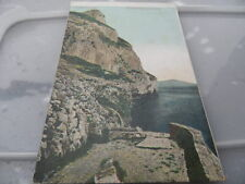 GIBRALTAR  Mediterranean Caves   POSTED 1908   POSTCARD VINTAGE  GOOD CONDITION
