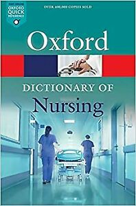 Nursing Dictionary Revised Book Oxford Quick Reference Nurses Guide Paperback !