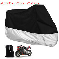 XL Large Motorcycle Motorbike Scooter Waterproof Dust Rain Vented Cover Clothes