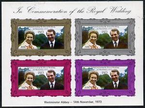 Sweden ISO 1973 GB Royal Wedding Minisheet Princess Anne &Mark Phillips UNM/MNH
