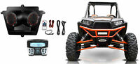 Speakers+Hifonics Bluetooth Receiver For 2011-2014 Polaris RZR XP 900 Hard Top
