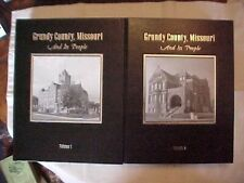 GRUNDY COUNTY, MISSOURI AND ITS PEOPLE VOLUME 1-2; MO HISTORY GENEALOGY