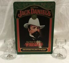 Vintage Original Jack Daniels Tennessee Whiskey Tin W/ Insert And Glasses Bonus!