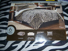 ADAMA ZEBRA PRINT 6 PIECE TWIN BED-IN-A-BAG