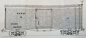 Funaro F&C 1004 HOn2-1/2  HOn30  CAIRO KANAWAHA  Old Time C&K Boxcar  2-CAR KIT