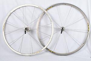 Vintage ROLF Vector Sestriere Silver Road Bike Wheelset 700c Shimano 8-10sp