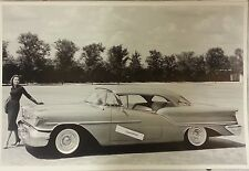 "1957 Oldsmobile Super 88 Holiday 2 door hardtop 12 X 18"" Black & White Picture"