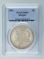1921 $1 Silver Morgan Dollar Graded by PCGS as MS-64! Gorgeous Morgan!