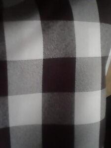 Black Checked Bar Stool Cover