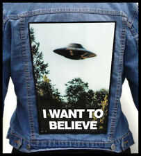 I WANT TO BELIEVE --- Giant Backpatch Back Patch