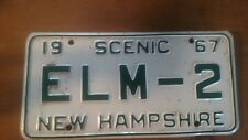 New Hampshire  License Plate Vintage 1967 SCENIC ELM-2