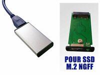 Boitier aluminium court -  Pour M2 Sata vers USB3 - M.2 2242