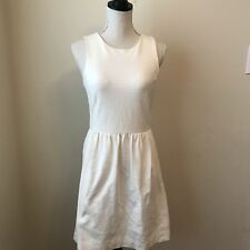 Madewell Women's White Cream Afternoon Back Zip Dress Size S (C20)