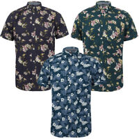 Tokyo Laundry Men's Short Sleeve Floral Cotton Shirt Hawaiian Summer Holiday