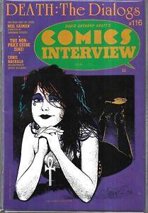COMICS INTERVIEW #116 (VG) NEIL GAIMAN OF SANDMAN & DEATH, HTF