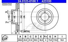 ATE Juego de 2 discos freno ventilado Para OPEL VAUX CARLTON 24.0123-0100.1