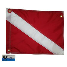 Heavy Nylon Scuba Dive Boat Flag, Slip on Style, 31x36