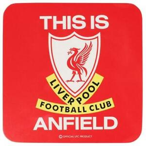 LIVERPOOL FC THIS IS ANFIELD DESIGN SINGLE COASTER - OFFICIAL GIFT,LFC,TIA