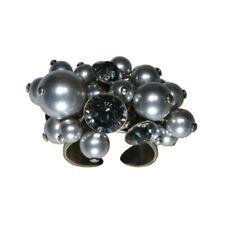 Konplott Ring Pearl Shadow grau Schwarzer Diamant