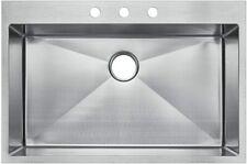 Starstar Top-mount / Drop In Stainless Steel Single Bowl Kitchen Sink W/Strainer
