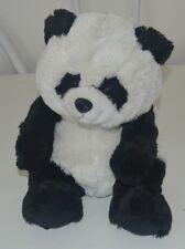 "Black and White Panda Bear Plush 11.5"" tall Very Soft"