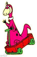 "3.5"" Flintstones Dino Wagon Handle Character Fabric Applique Iron On"