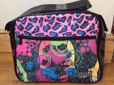 LONSDALE Pink Leopard Print Messenger/Shoulder/school bag