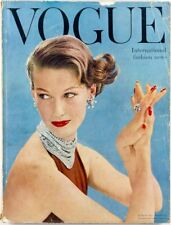 JOHN RAWLINGS International Collections PARIS Dublin Vogue Magazine March 1955