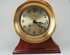 New listing Antique Chelsea Solid Brass Ship'S Clock Circa 1920