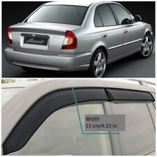 Wide Window Visors Side Guard Vent Deflectors For Hyundai Accent Sd 1999-2005