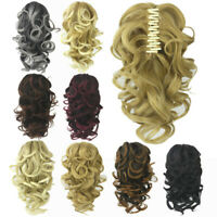 Women Wavy Curly Ponytail Tail Claw Clip-on Hairpiece Hair Extensions Styling