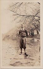 Vintage Antique Photograph Cute Little Boy Wearing Knickers By The Water