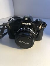 Nikon Film Camera Em Nikon 50 mm and 80-200 mm lens Bag Flash and Accessories
